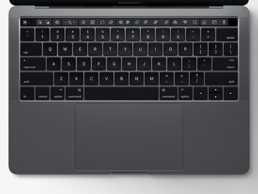 A detailed mockup of what tools the Touch Bar could sport in Sketch