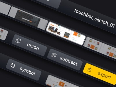 How the Touch Bar could use text labels in Sketch
