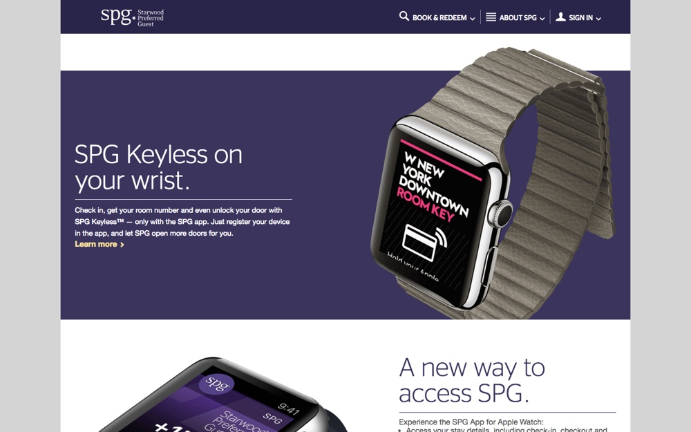 Check-in to your hotel room with SPG for Apple Watch
