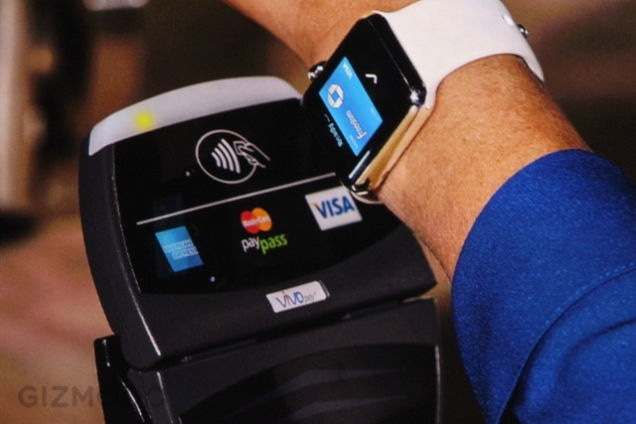 Paying for something with Apple Watch and Apple Pay
