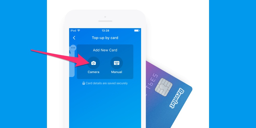 Revolut: quickly scan credit cards with the mobile camera for faster payments