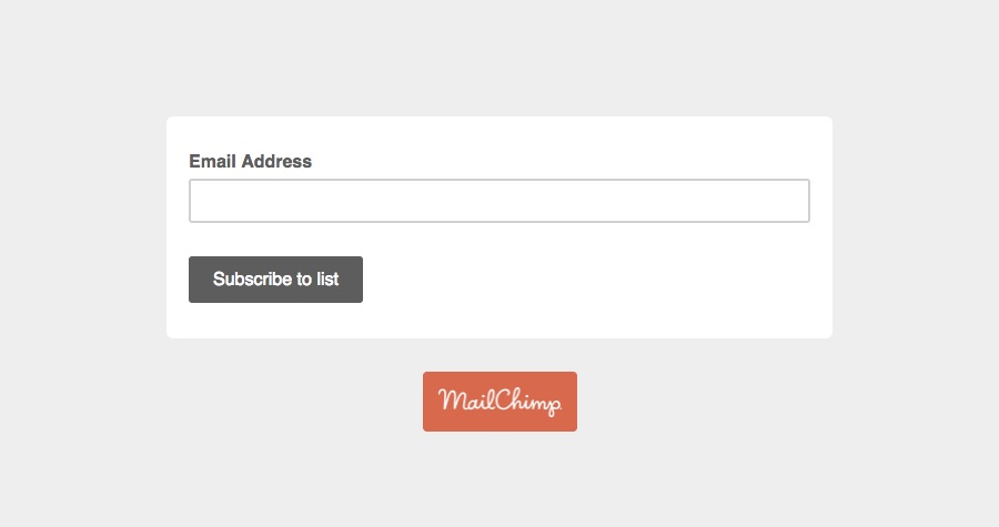 Mailchimp, only the necessary form fields