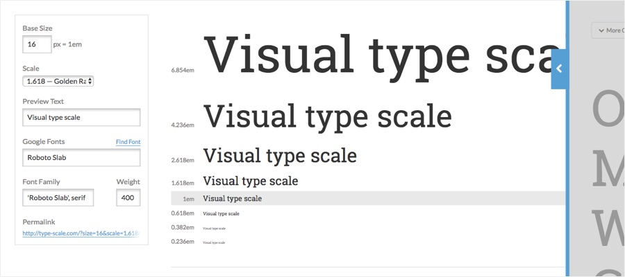 Scaling fonts with a type scale