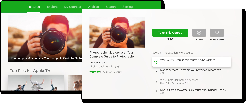 Udemy App TV app images