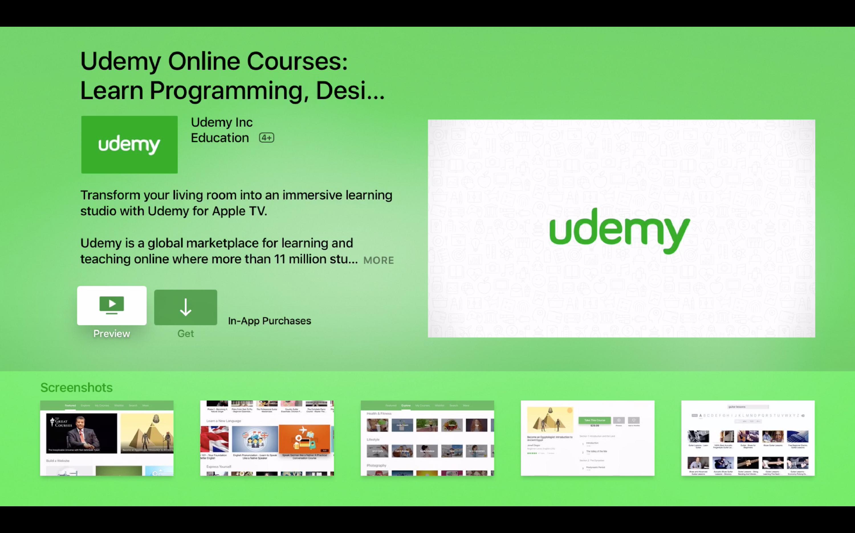 Udemy App TV app