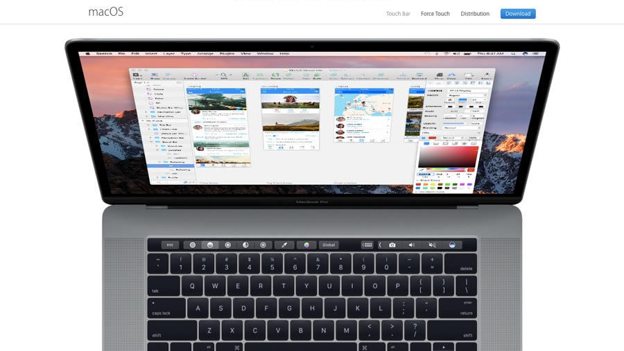 Apple's Touch Bar collaboration with Sketch