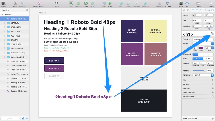 Making Document-Wide Changes to Shared Styles in Sketch