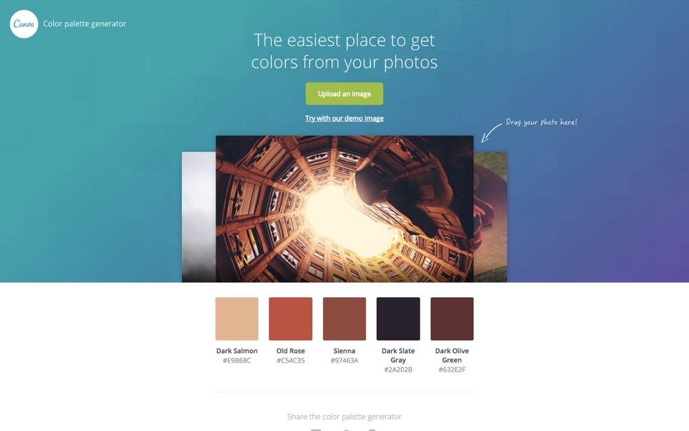 Color Palette Generator by Canva