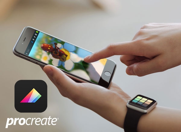 Control Procreate Pocket with remote dashboard for Apple Watch