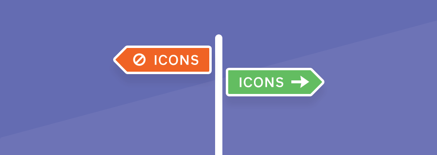 When you should use icons