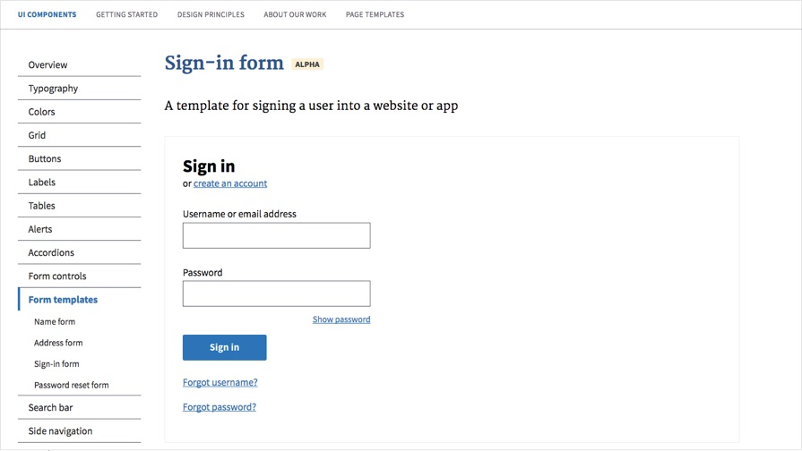 US Government form templates