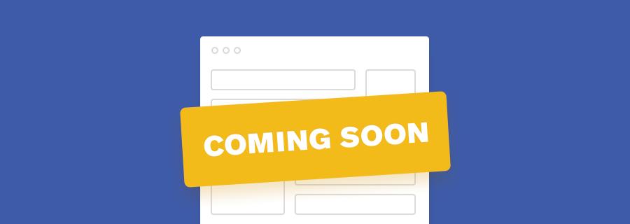 Coming soon webpage