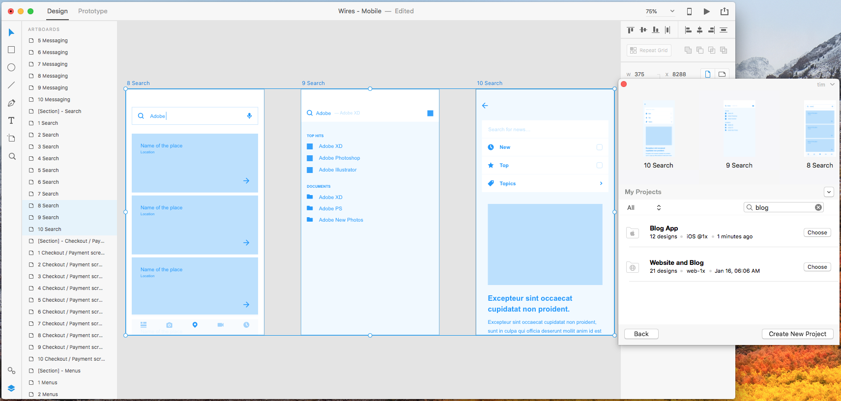 Lean UX and Low-Fidelity Prototyping with Adobe XD and Sympli