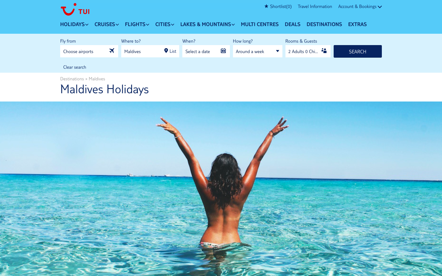 Thomson Holidays luxury beach branding