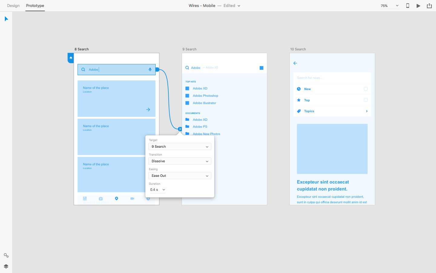 Prototyping Interactions in Adobe XD